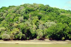 巴拿马运河的风景 免版税库存图片
