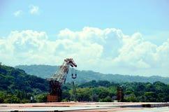 巴拿马运河的风景 库存照片