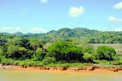 巴拿马运河的风景 免版税图库摄影