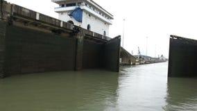 巴拿马运河锁,货物,运输,运输 股票视频