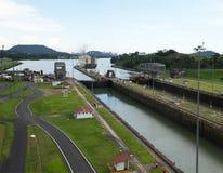巴拿马运河,运输,货物,旅行 免版税图库摄影