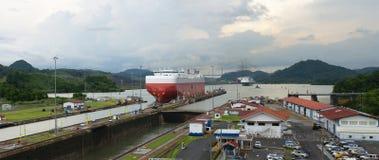 巴拿马运河,运输,货物,旅行 免版税库存图片