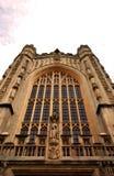 巴斯修道院教堂教会在巴恩,萨默塞特,英国 库存照片