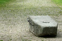 巴斯克拉的石头 免版税库存图片