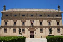 巴斯克斯de莫利纳宫殿在市宇部安大路西亚 库存照片