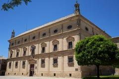 巴斯克斯de莫利纳宫殿在市宇部安大路西亚 图库摄影