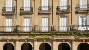 巴斯克语的皇家学院门面在毕尔巴鄂、科学和教育的 股票录像
