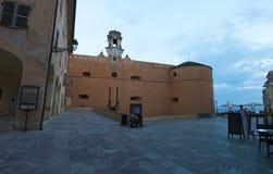 巴斯蒂亚,可西嘉岛,盖帽Corse,地平线,城堡,老镇,建筑学,博物馆,细节,城市生活,日常生活 免版税库存照片