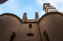 巴斯蒂亚,可西嘉岛,盖帽Corse,地平线,教会,圣约翰浸礼会教友,古老 免版税库存照片