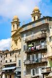 巴斯蒂亚:街市Vieux的口岸 免版税图库摄影