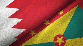 巴林和格林纳达两旗子纺织品布料,织品纹理 库存例证