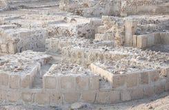 巴林堡垒废墟 免版税库存图片