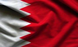 巴林挥动的旗子 免版税图库摄影