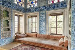巴格达在Topkapi宫殿,伊斯坦布尔,土耳其的报亭内部 免版税库存图片