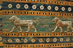 巴比伦墙壁 库存照片