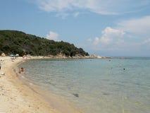 巴比伦海滩,希腊 库存图片