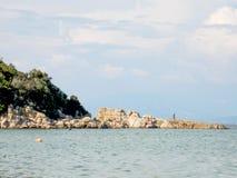 巴比伦海滩,希腊 库存照片
