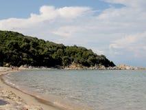 巴比伦海滩,希腊 免版税库存图片