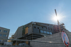 巴法力亚历史的新的博物馆的结构性工作的雷根斯堡,德国 免版税库存图片