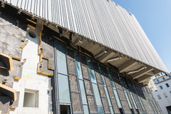 巴法力亚历史的新的博物馆的结构性工作的雷根斯堡,德国 免版税库存照片