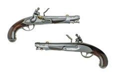 巴法力亚古色古香的燧发枪手枪 库存照片