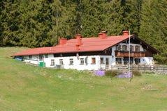 巴法力亚房子红色屋顶 免版税图库摄影