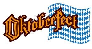 巴法力亚样式旗子和词慕尼黑啤酒节 向量例证