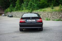 巴法力亚美丽的历史的车的黑金属paing和origi 库存图片