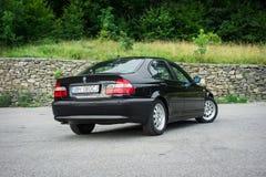 巴法力亚美丽的历史的车的黑金属paing和origi 库存照片