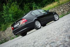巴法力亚美丽的历史的车的黑金属paing和origi 免版税库存照片