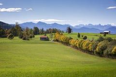 巴法力亚风景,德国 免版税图库摄影