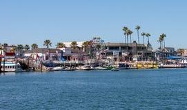 巴波亚乐趣区域在新港海滨加利福尼亚 免版税库存图片