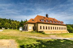 巴洛克式的修道院Skalka, Mnisek荚Brdy,捷克Rep 免版税库存照片