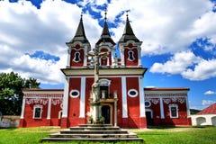 巴洛克式的受难象复合体,教堂在普雷绍夫,斯洛伐克 免版税库存照片
