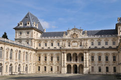 巴洛克式的城堡都灵白色 库存图片