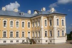 巴洛克式的城堡, Rundale,拉脱维亚 免版税图库摄影
