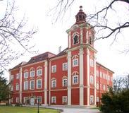 巴洛克式的城堡cuech共和国 免版税库存图片