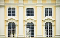 巴洛克式的大厦门面 免版税图库摄影