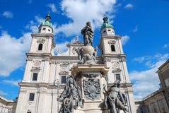 巴洛克式的大教堂 免版税图库摄影