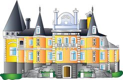 巴洛克式的宫殿向量 库存照片