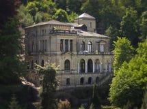 巴洛克式的德国山坡豪宅 库存图片