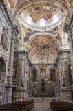 巴洛克式的教会基耶萨di圣诞老人Caterina内部在巴勒莫我 免版税图库摄影
