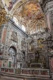 巴洛克式的教会基耶萨di圣诞老人Caterina内部在巴勒莫我 免版税库存图片