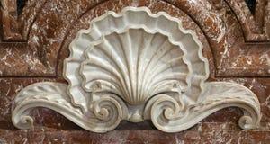 巴洛克式的教会decoracion详细资料罗马 免版税图库摄影