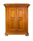 巴洛克式的木机柜 免版税库存照片