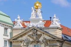 巴洛克式的样式façade在维也纳,奥地利 免版税图库摄影