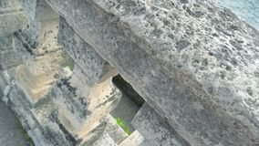 巴洛克式的楼梯栏杆关闭 影视素材