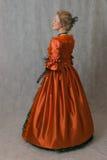 巴洛克式的礼服女孩身分 免版税库存图片