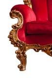 巴洛克式的红色沙发 免版税库存图片