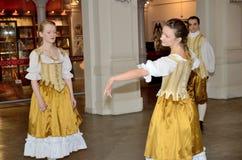 巴洛克式的舞蹈在波兰 库存图片